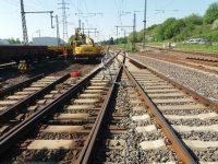 Gleisbausicherung Bagger