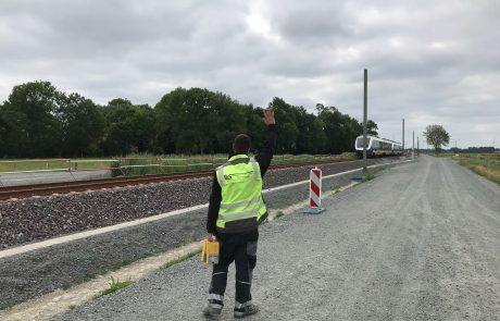 Gleisbau Sicherung Zugverkehr